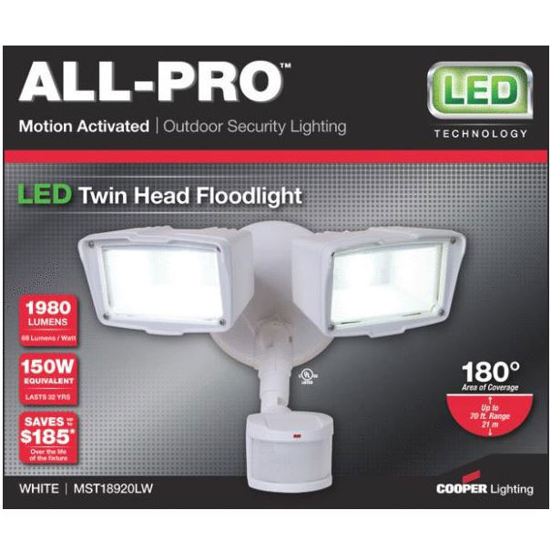 All-Pro LED Motion Floodlight - White