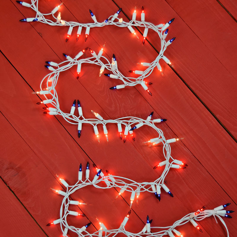 Red, White & Blue Cluster String Lights - 150 Count