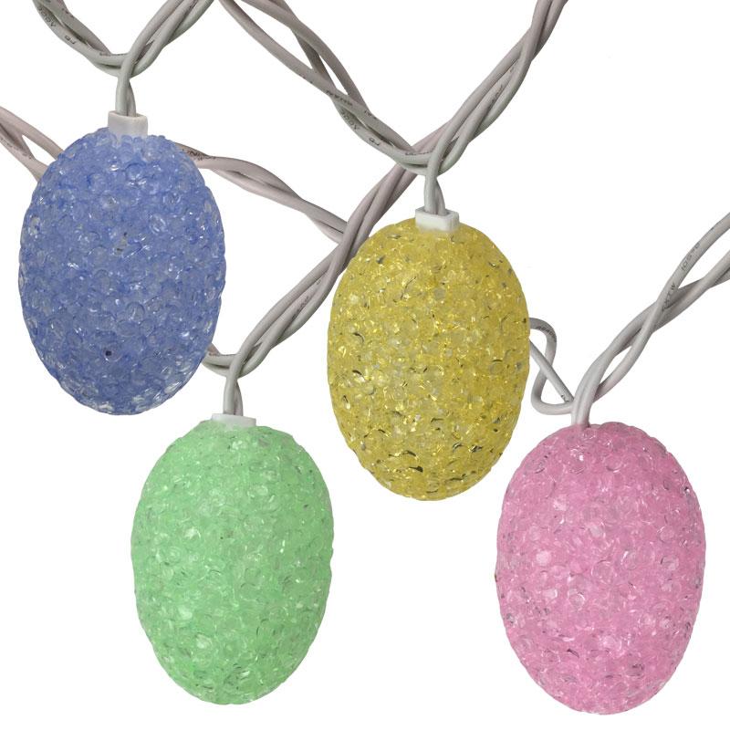 Pastel Colored Easter Egg String Lights - 10 Lights