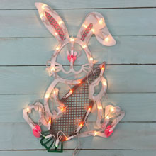 "18"" Lighted Easter Bunny Window Decoration"