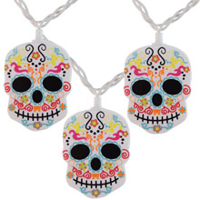 Day of the Dead Skull Party String Lights