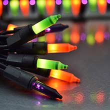 Halloween Party String Lights - Green Purple Orange - 50 Lights DR-620127