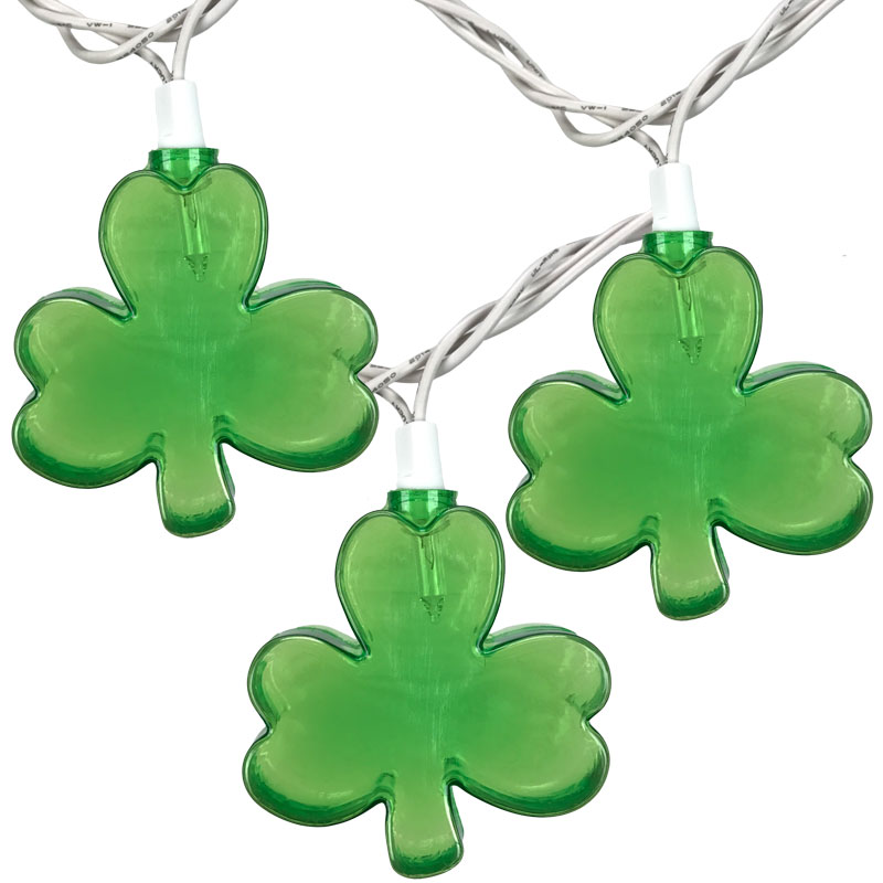 Shamrock Clover Party String Lights - 10 Lights