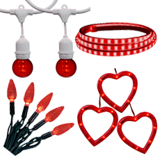 valentines novelty lights - Valentine String Lights