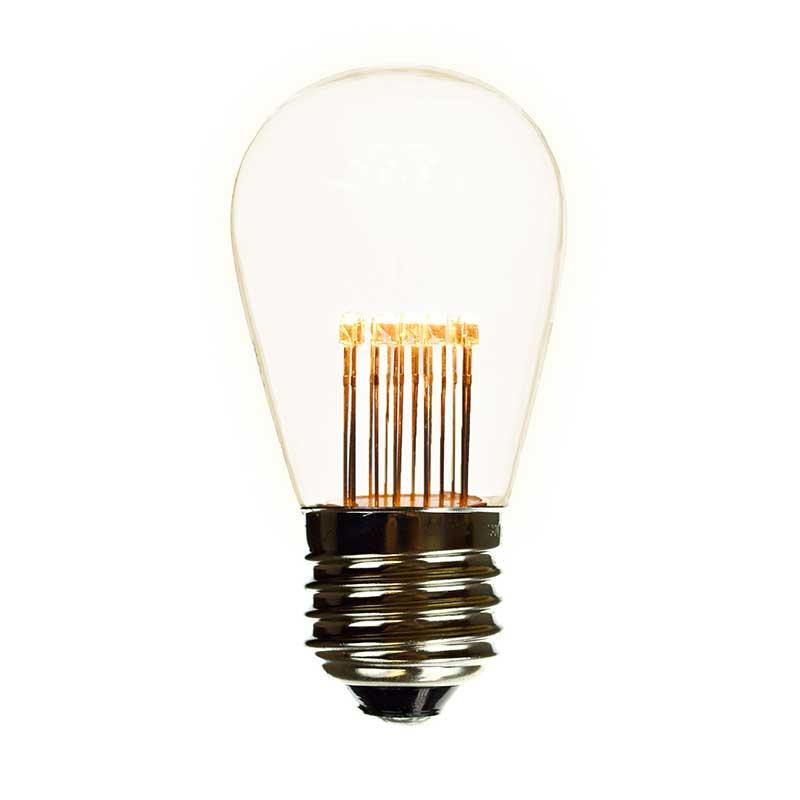 Led S14 Medium Base Light Bulb Clear 9 Led