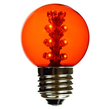 Amber LED G50 Designer Globe Light Bulb