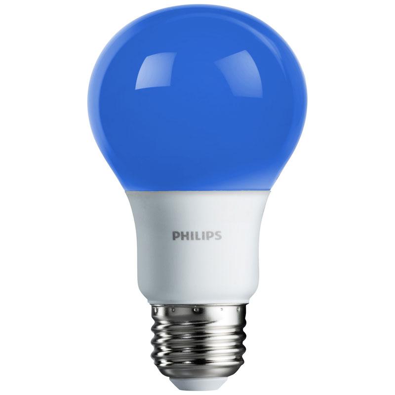 Blue A19 Led Light Bulb Medium Base