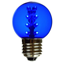 Blue LED G50 Designer Globe Light Bulb