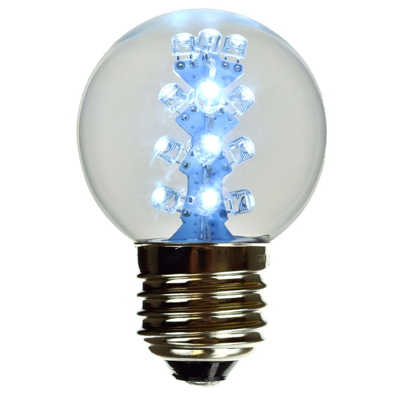 LED G50 Designer Bulb - Cool White (E27 Medium Base)  Vintage Light Bulb