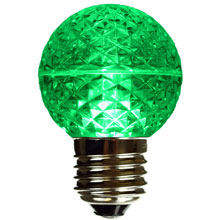 Green LED Globe Light Bulb