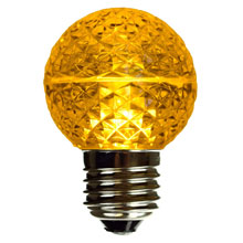 Yellow LED Globe Light Bulb