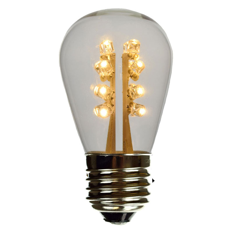 led s14 light bulb medium base warm white glass. Black Bedroom Furniture Sets. Home Design Ideas