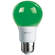 Green LED A19 Medium Base Light Bulb
