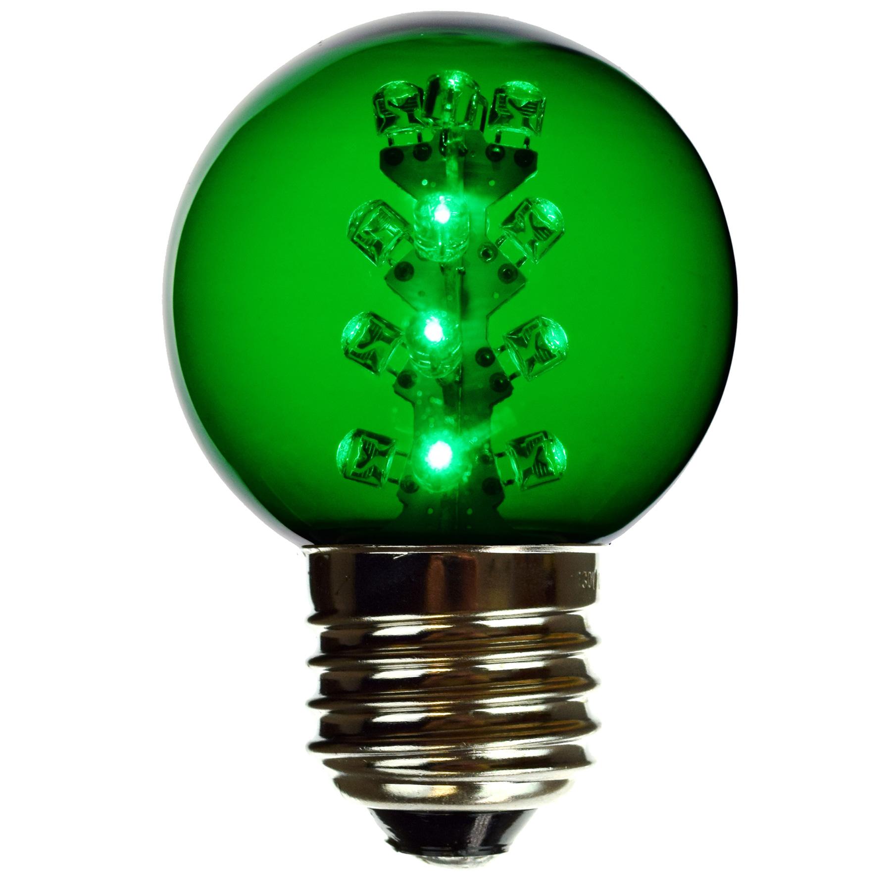 Green G50 Led Light Bulbs E27
