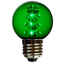 Green LED G50 Designer Globe Light Bulb