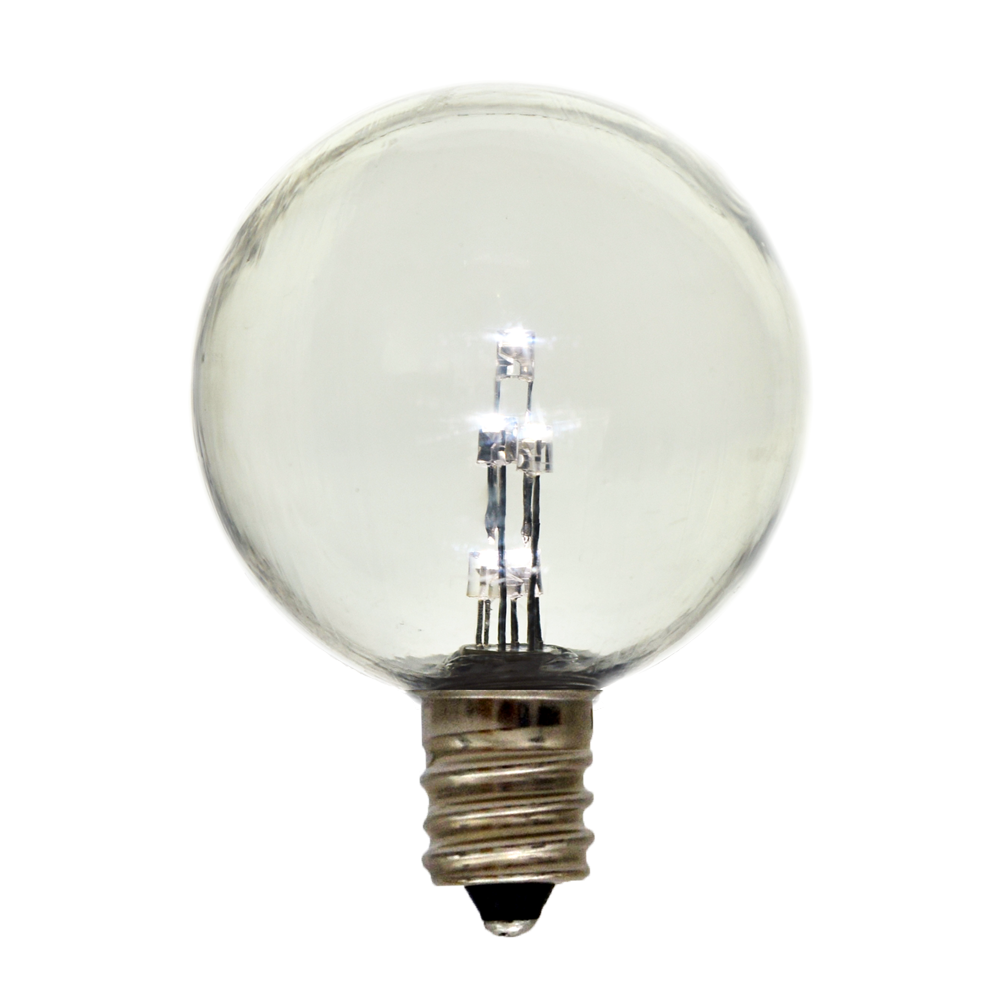 Globe g50 e12 candelabra base light bulb plastic Household led light bulbs