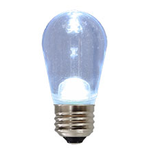 LED S14 Medium Base Light Bulb - Cool White - Plastic HB-S14LED-PW-PL-C
