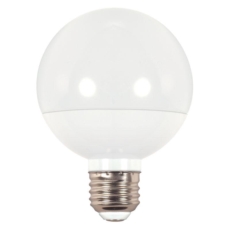 frosted g25 led globe light bulb 6w 501631. Black Bedroom Furniture Sets. Home Design Ideas