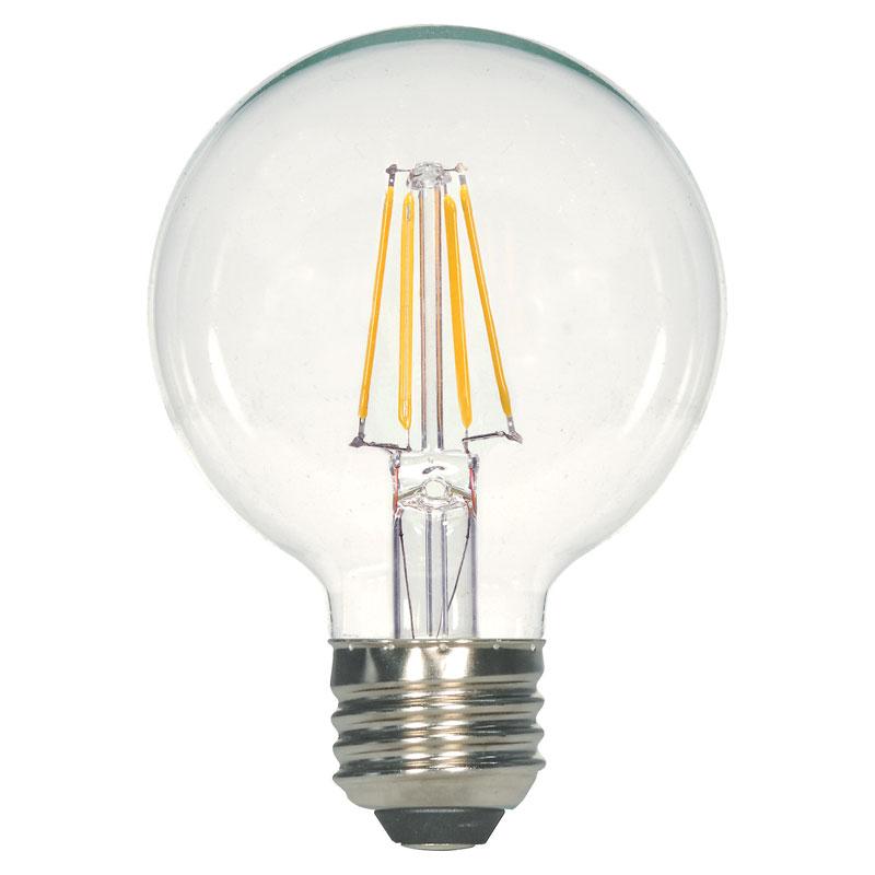 clear g25 led globe light bulb 4 5w 525014. Black Bedroom Furniture Sets. Home Design Ideas
