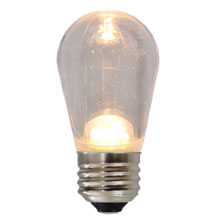 LED S14 Medium Base Light Bulb - Warm White - Plastic HB-S14LED-WW-PL-C