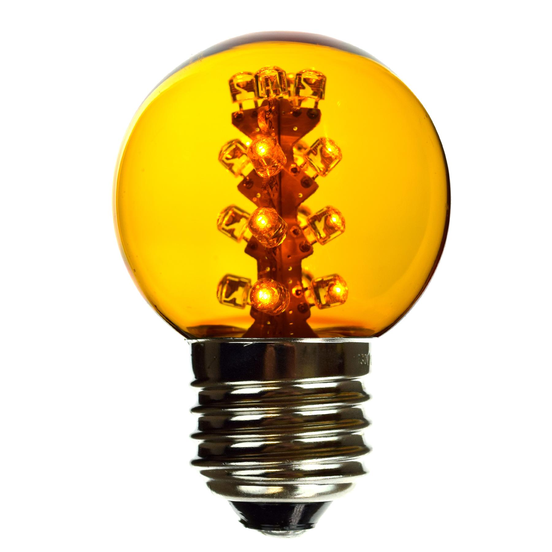Yellow G50 Designer Light Bulb E27 Medium Base