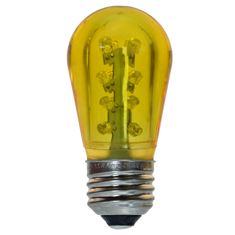 LED S14 Medium Base Light Bulb - Yellow/Plastic