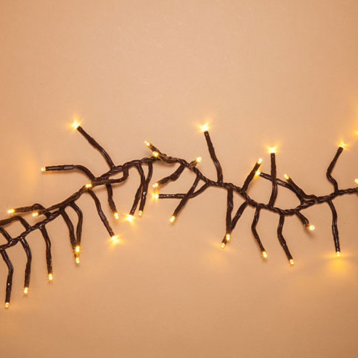 Warm White LED Garland Lights - 10 ft. Brown Wire GC2366060