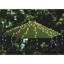 Patio Umbrella Mini LED String Light Strand Set - Cool White
