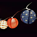 Americana LED Lantern String Lights - Battery Operated - 10 Lights - GC2188220