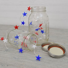 Patriotic Star LED Battery Operated Micro String Lights