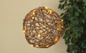"Battery Operated LED Natural Grapevine Ball Light Sphere - 8"" w/ Timer - GC2116980"