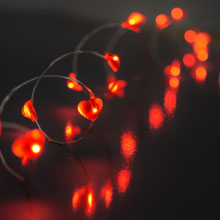 LED Acrylic Heart Battery Operated Party String Lights