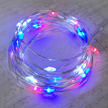 Red, White & Blue Fairy String Lights