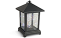 "Black Plastic Lantern w/ Micro LED Cool White Lights - 9"" - GC42501"