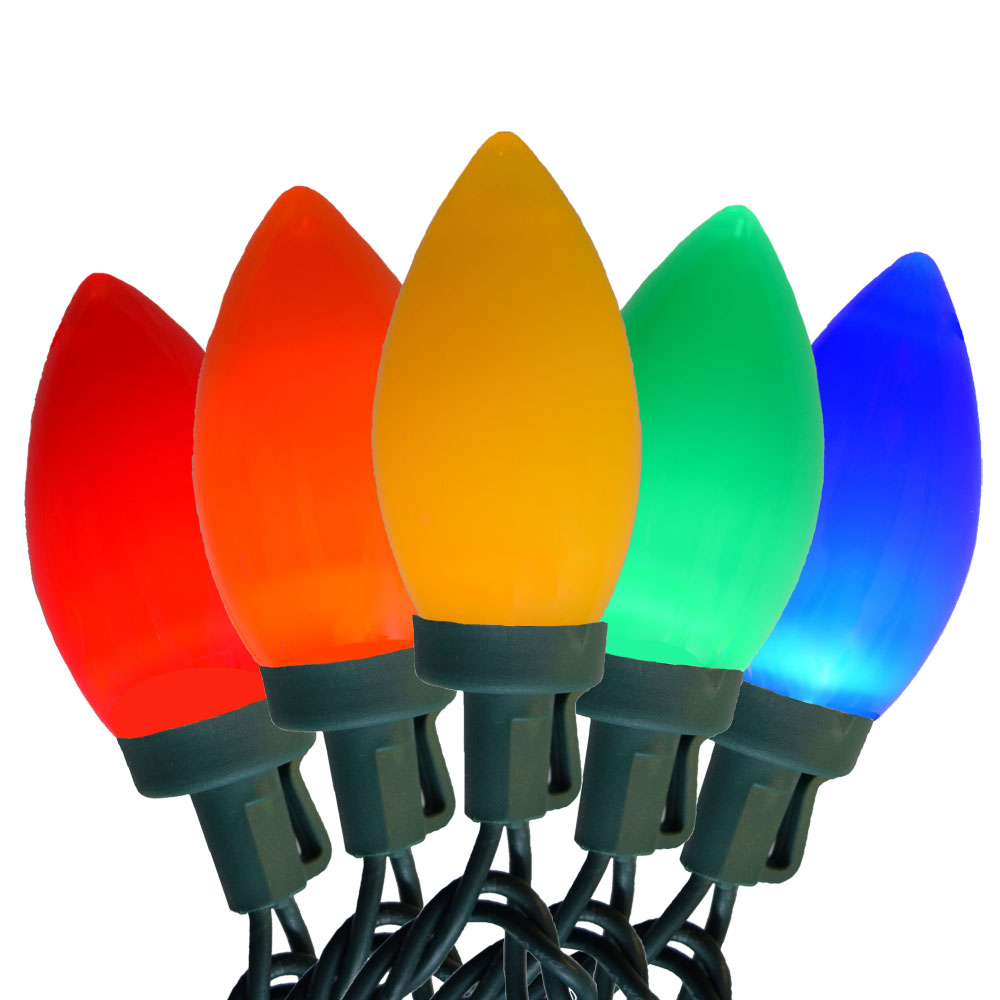 LED Multi Color C7 Style Lights - 25 Lights