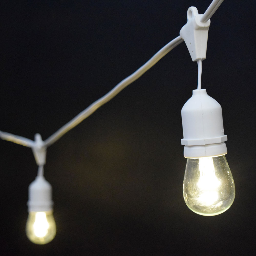 White String Garden Lights : White LED Commercial String Lights - 21 - 10 LED Lights
