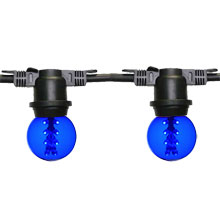 48' Designer Globe Light Strand - Blue LED G50 Bulbs