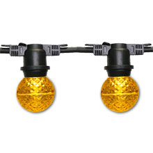 48' G50 Globe Commercial Light Strand - Yellow LED
