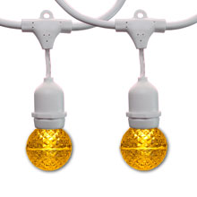 48' White Suspended Globe Light Kit - Yellow LED G50