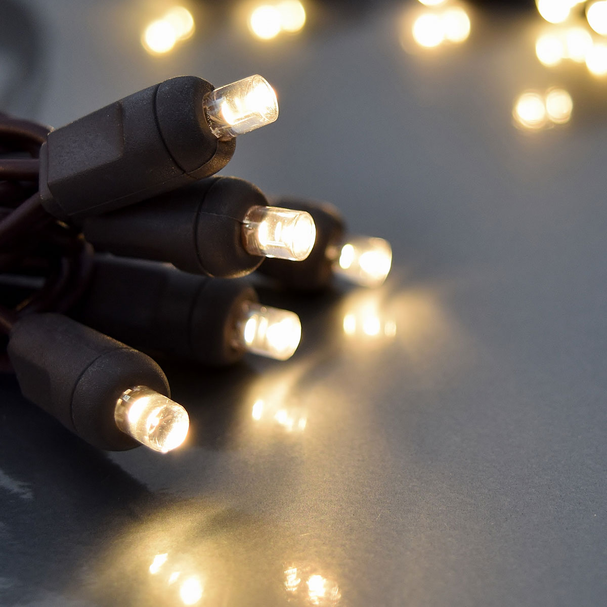 FLEXCHANGE™ LED String Light Strand - 50 Lights - Warm White/Brown Cord 724240