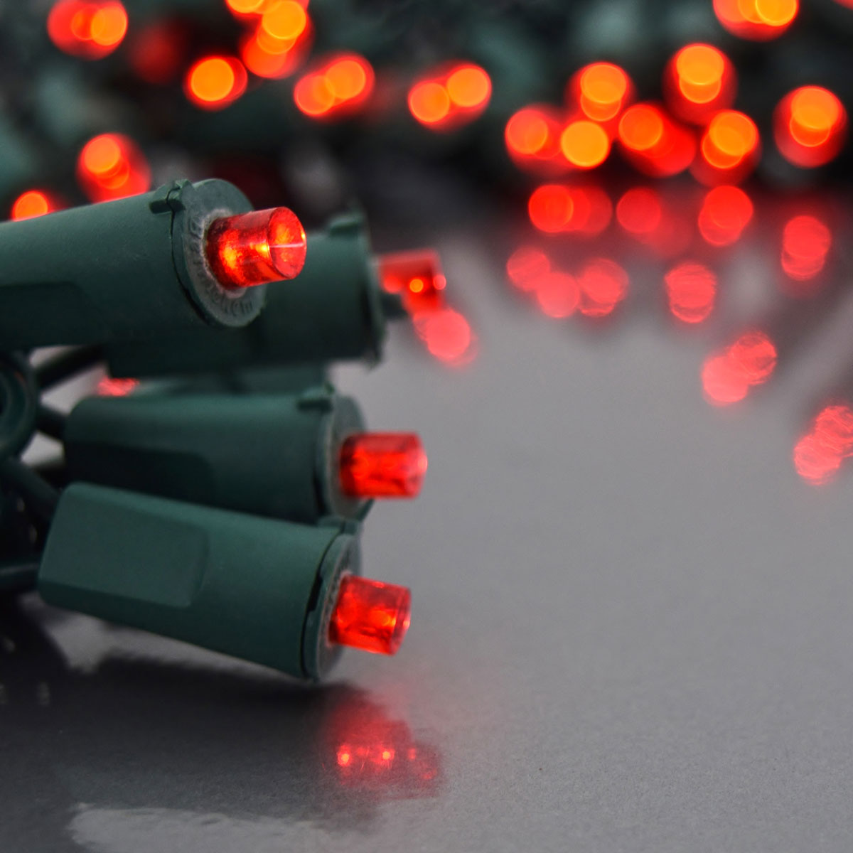 Red Bulb String Lights : LED Battery Operated 5MM Party String Lights - 20 Red Lights - LED String Light Strands & Sets