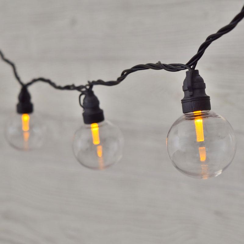amber led globe g50 lights