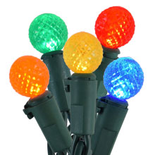 Multi Color LED Globe Christmas Lights - 25 Lights