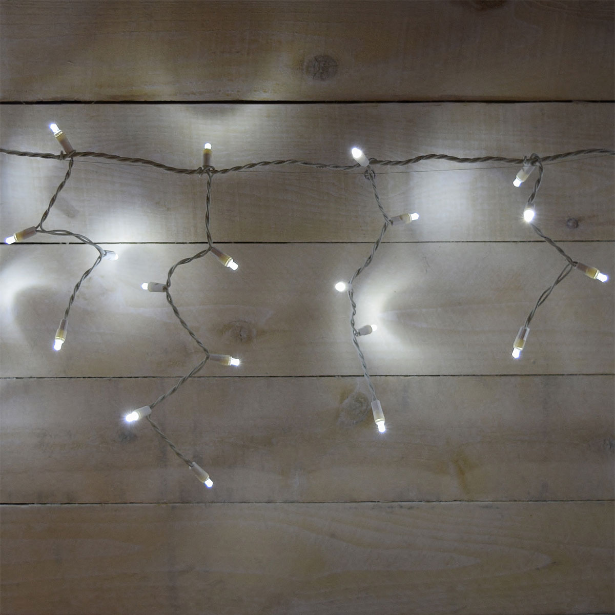 White String Christmas Lights Led : White LED Icicle String Lights