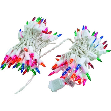 Multi-Color Icicle Light Set - White Wire - 100 Lights