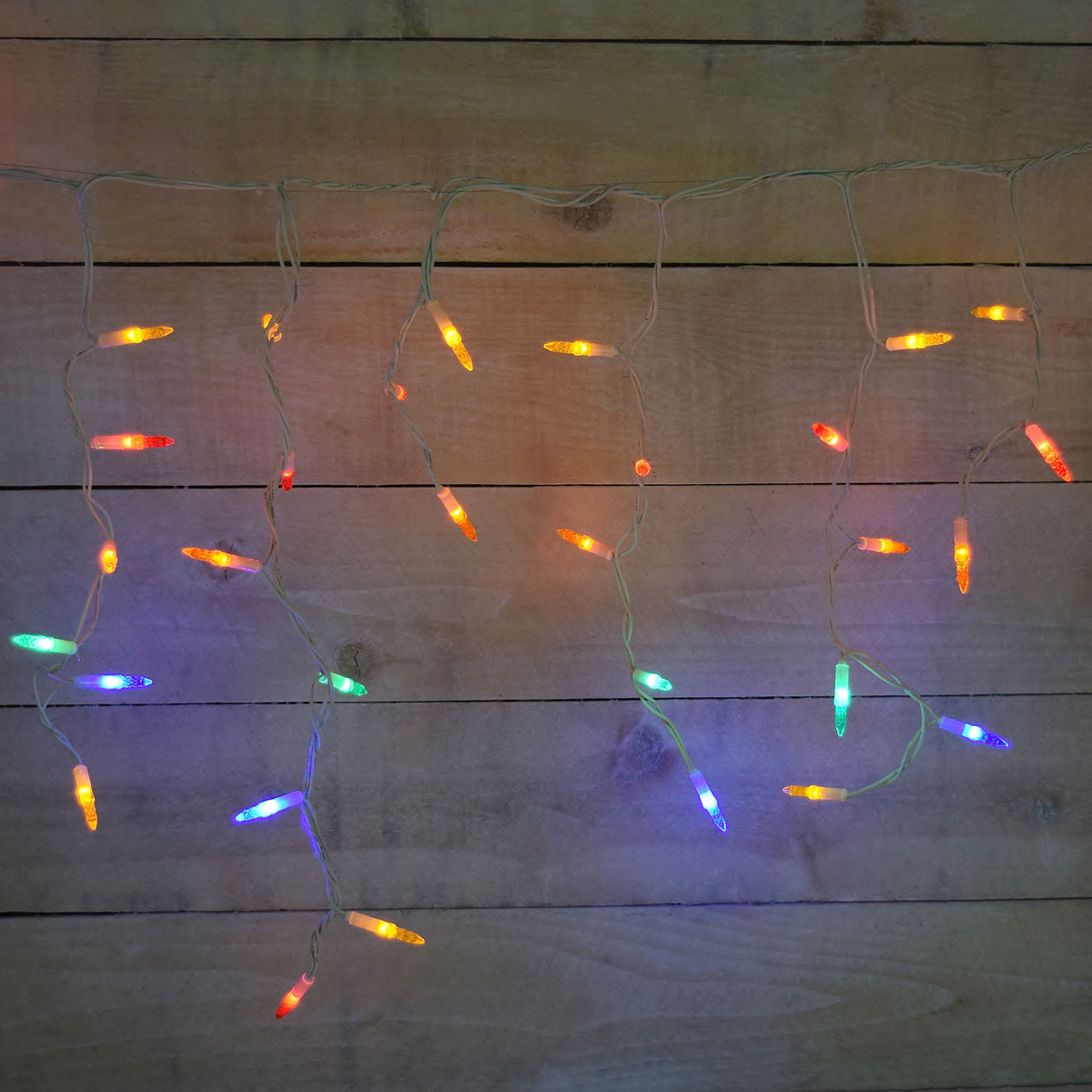 Multi-Color LED Icicle Party String Light Set - 105 Lights