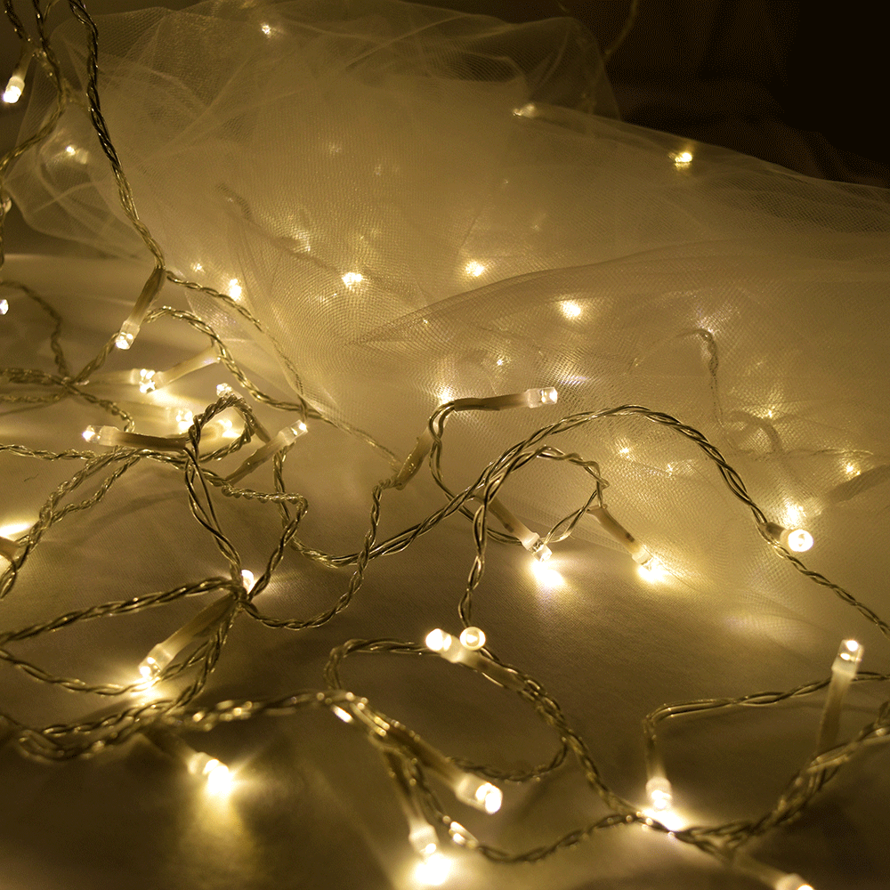 Curtain Of String Lights : White Curtain String Light Set
