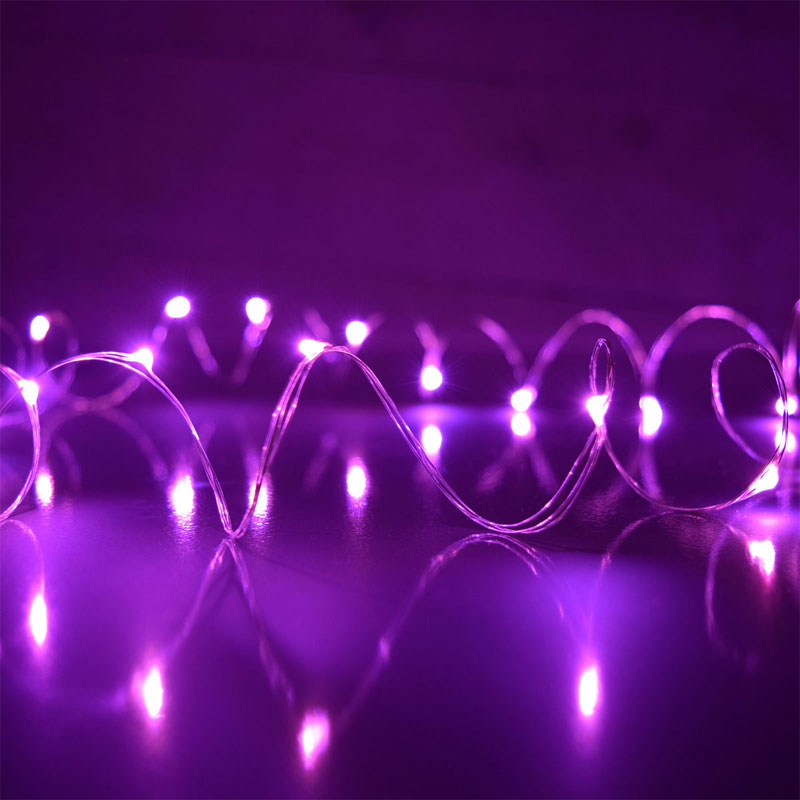 Pink LED Micro Dew Drop String Lights