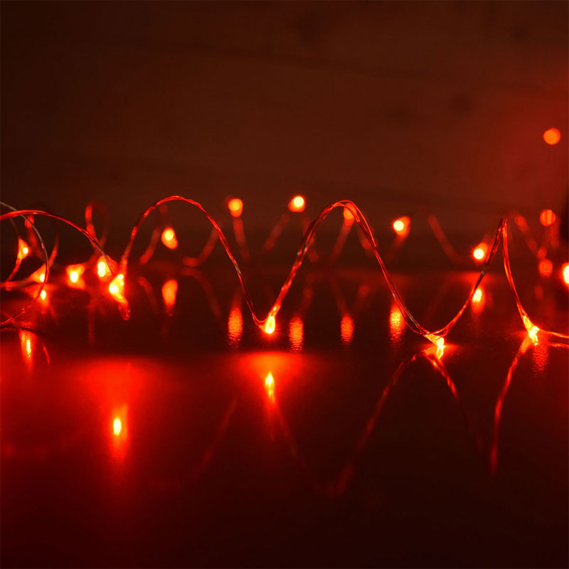Red LED Starry Fairy Dew Drop String Lights