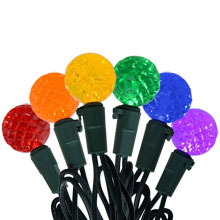 60 Count Diamond Cut Multi-Color LED Globe Lights